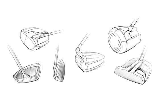 Metropolis Design and Prototyping Slide 4 - Conceptual Design - Golf Club Sketches